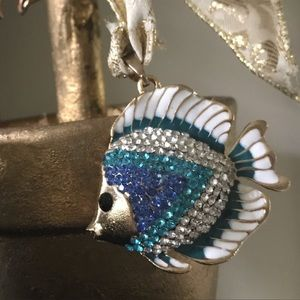 Crystal Fish Pendant in Blue & Green